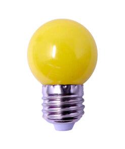 Foco led bulbo amarillo 1 watt