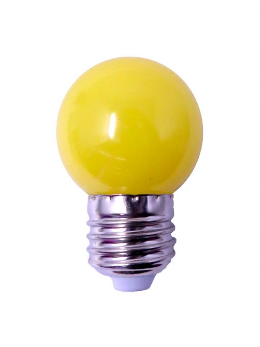 Foco led bulbo amarillo 1 watt