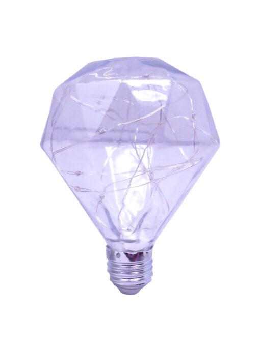 Foco de hilo led multicolor forma diamante