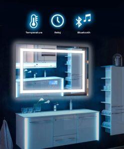 Espejo touch de luz led rectangular