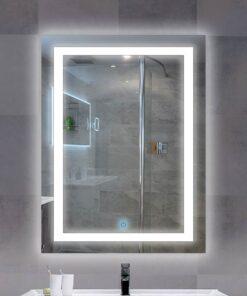 Espejo LED touch rectangular 80cm