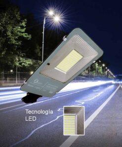 Luminaria urbana solar de 100 watts de potencia + panel solar + control remoto