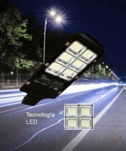 Luminaria urbana solar de 400 watts de potencia + panel solar + control remoto