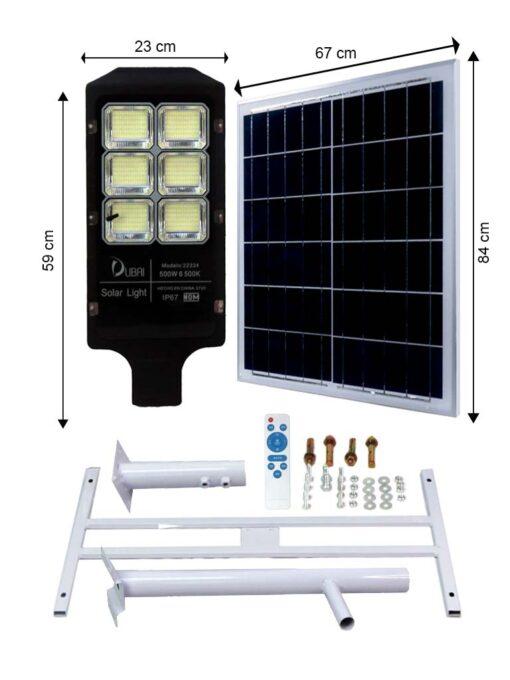 Luminaria urbana solar 500 watts
